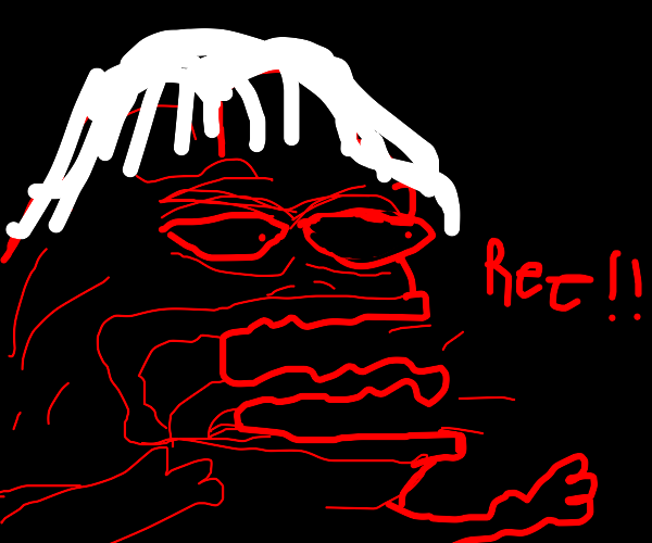 angry little girl pepe frog screaming