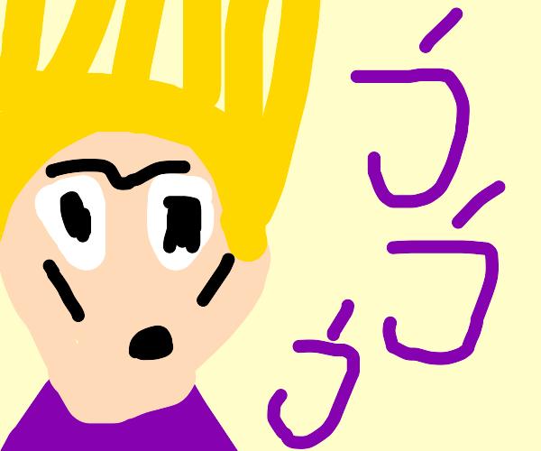JoJo Bizarre Adventure yellow hair dude