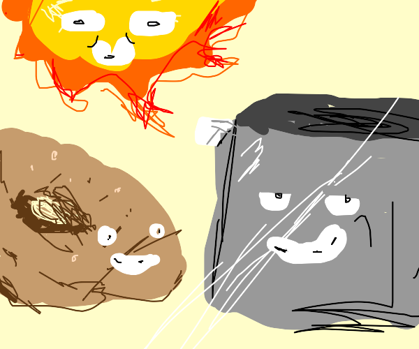 Heroic Trio: Toaster, Bagel, The Sun