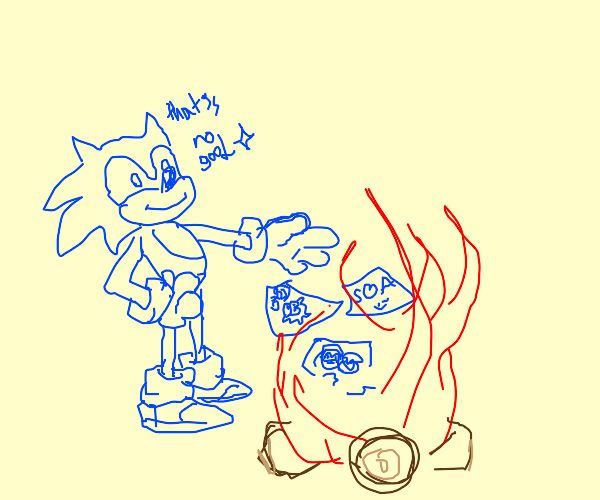 Sonic burning papers of amy x sonic ships