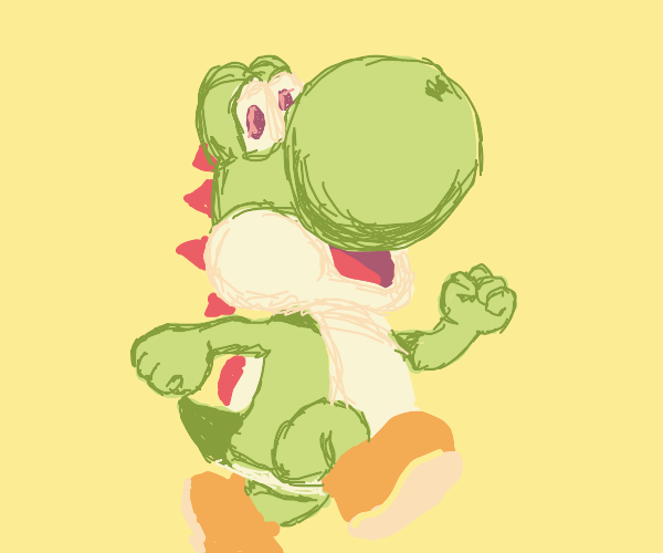 yoshi with spikes