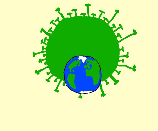 Corona takes over Earth