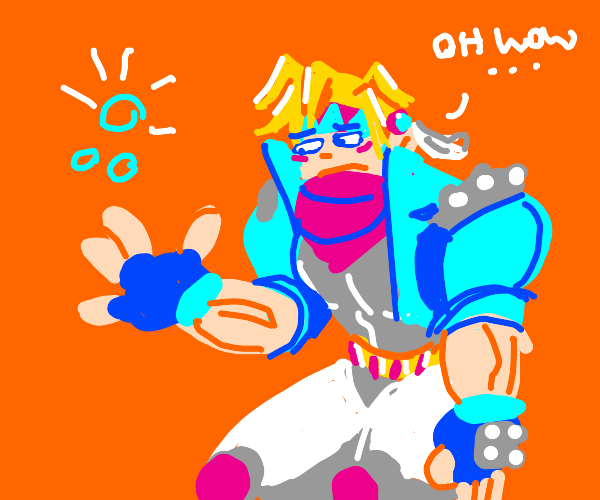 Ceaser (jjba)is unimpressed by his own bubles