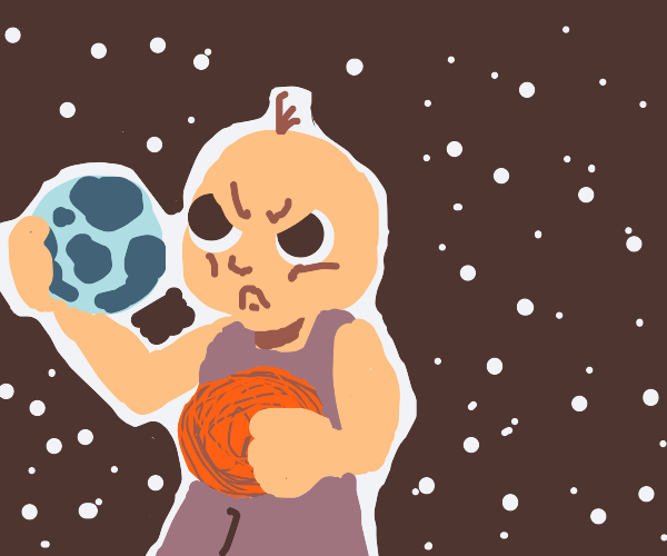 angry baby destroys the universe