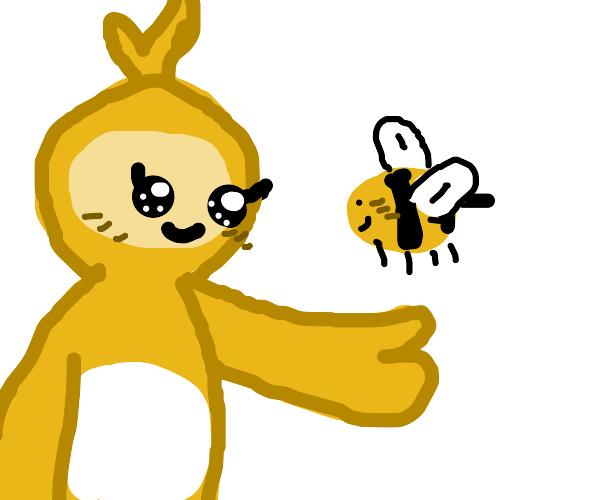 teletubby meets bee