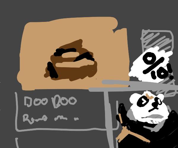 panda on youtube ranting about doo doo