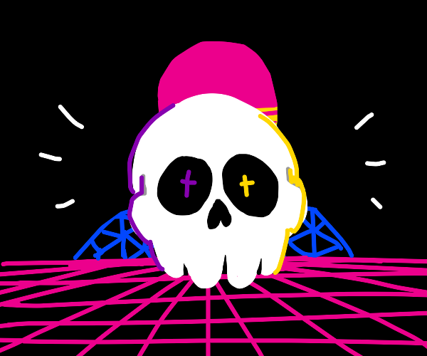 Vaporwave Skeleton