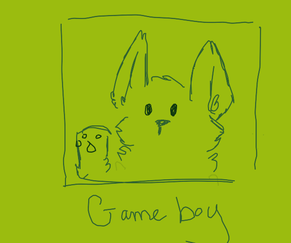Nintendog gives you a high five on Gameboy