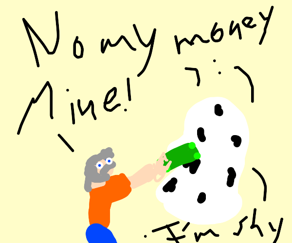Old man tries to rob shy ghost's money