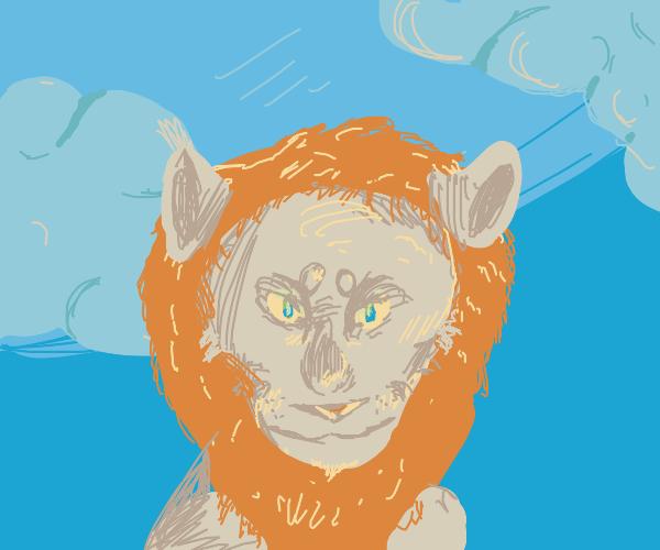 a lion's mane flowing thru the air