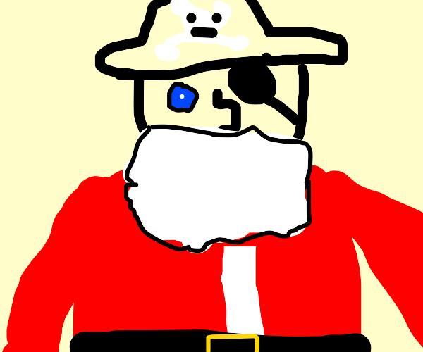 Pirate pretends to be Santa Claus