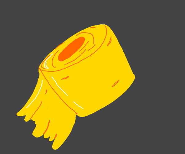 golden toilet paper