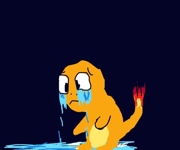 Sad charmander