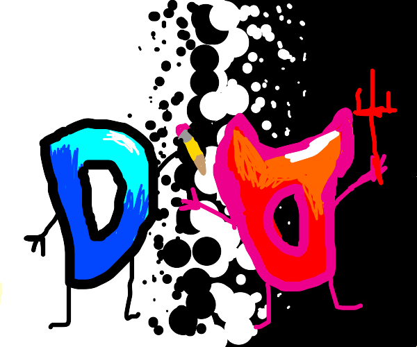 good Drawception D vs bad Drawception D
