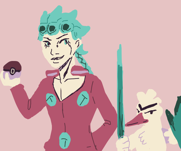Giorno and his Pokemon