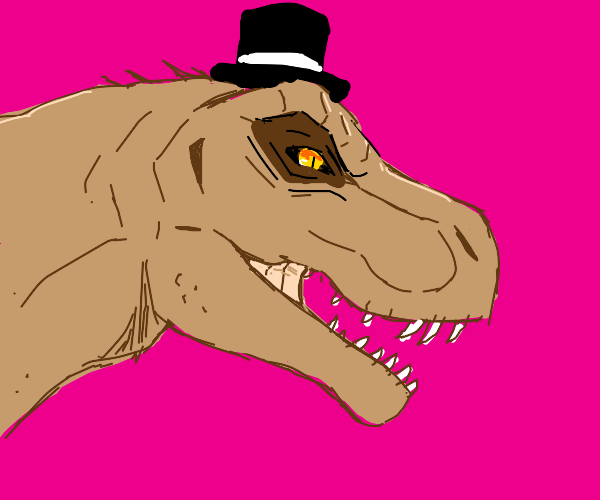 T-Rex wearing a Top Hat