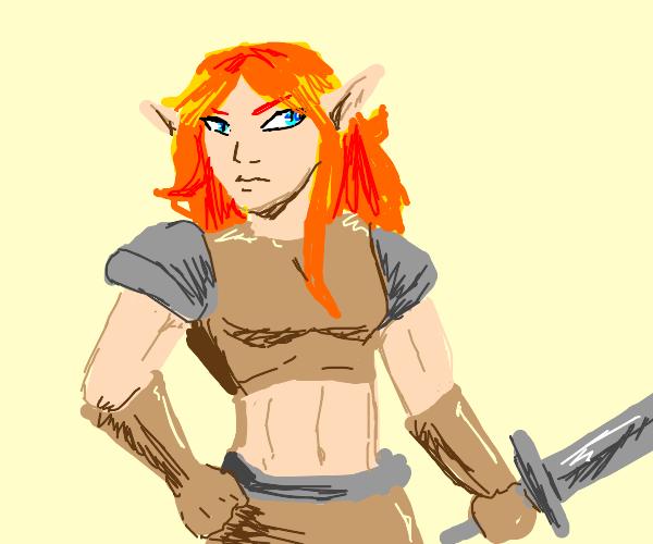 buff elf warrior woman