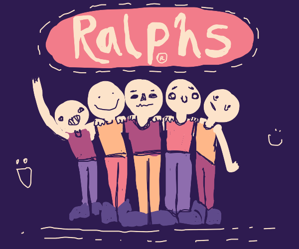 come huddle with us at ralphs