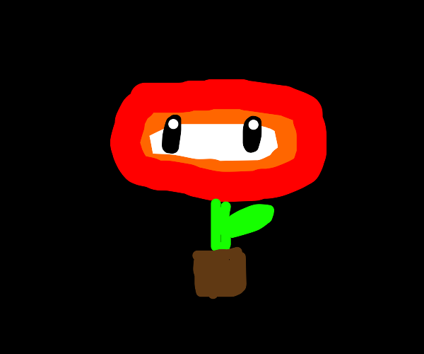 Jump on flower for fireball power