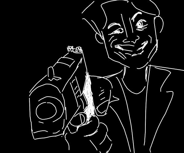 Pointing gun meme