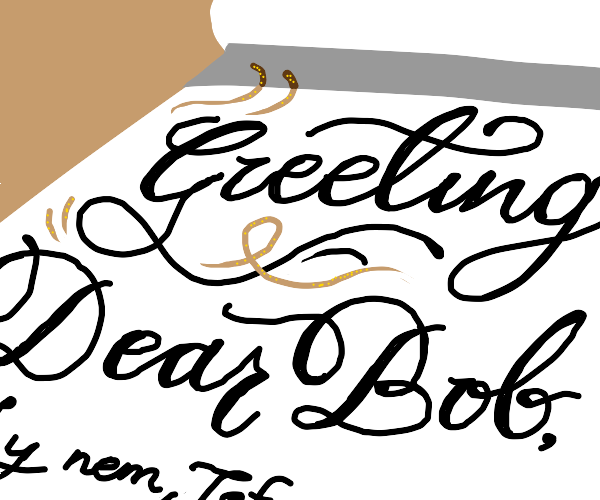 Greetings from the penmanship club