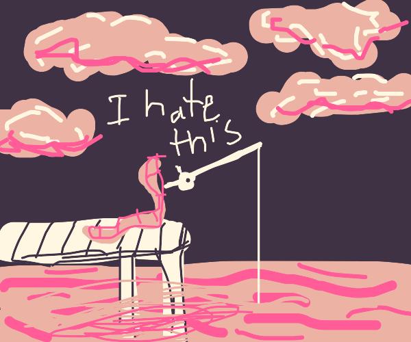 Worm hates fishing