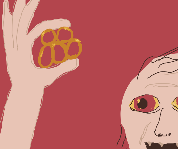 Gollum with 5 golden rings