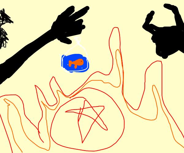 sacrifing Nemo to the devil
