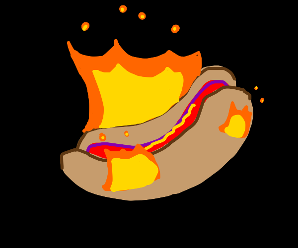 A hot hotdog