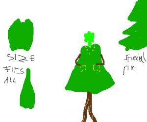 tree wears a skirt