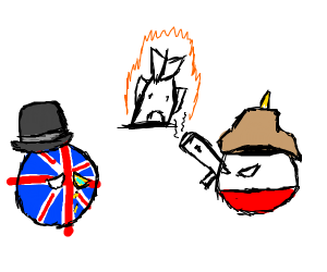 britainball had his ship crashed by reichball