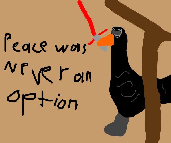 Kylo Ren as The Goose