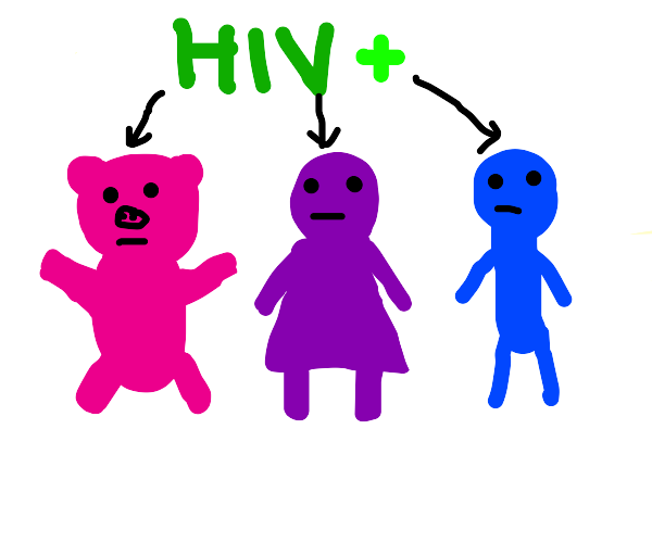 A pig, a woman and a man positive to hiv