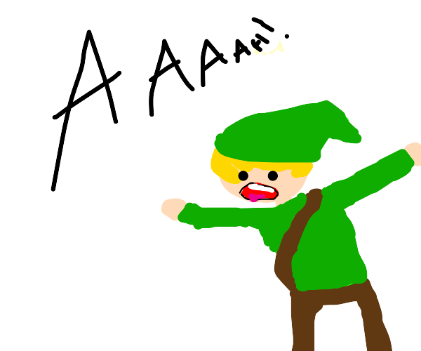 """""""AAAAH!"""" said Link."""