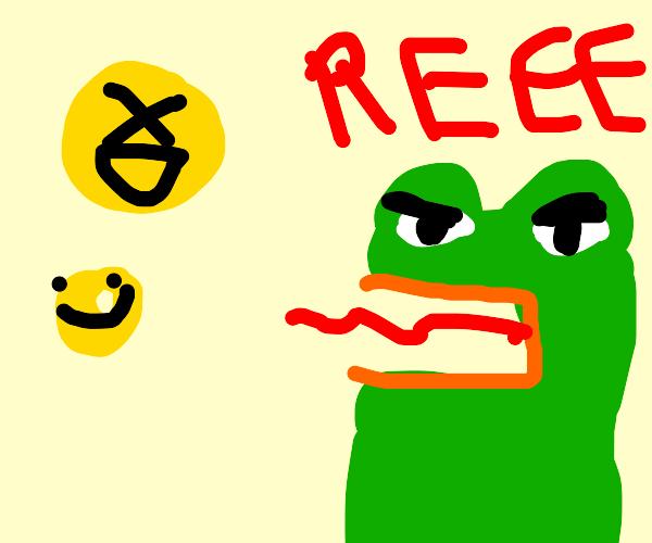 Emoticons trigger Pepe
