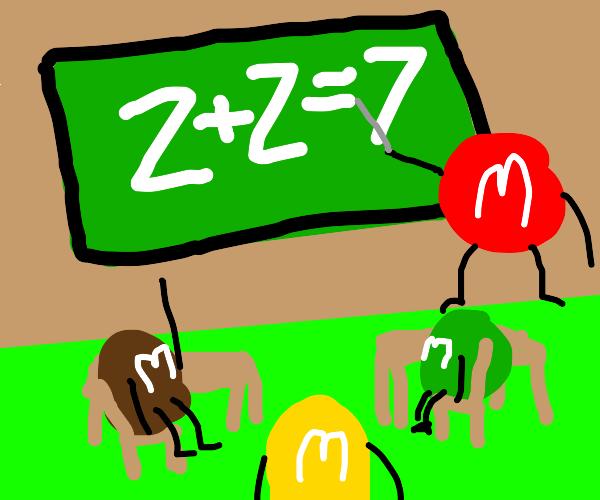 Z+Z=7 in M&M school