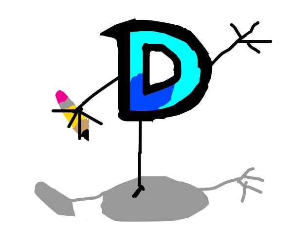 drawception but it has only one (long) leg