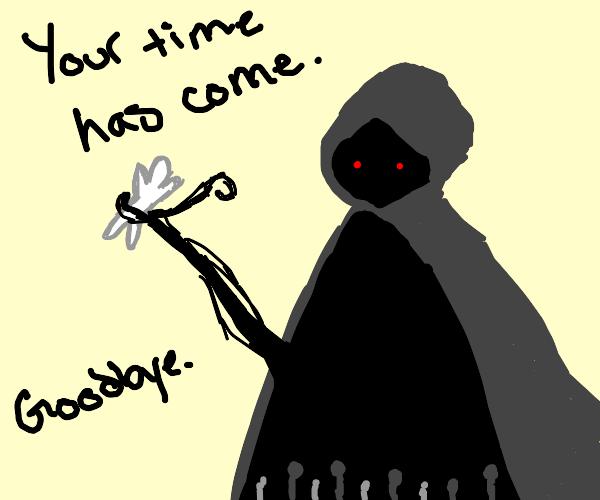 Grim Reaper is killing white person