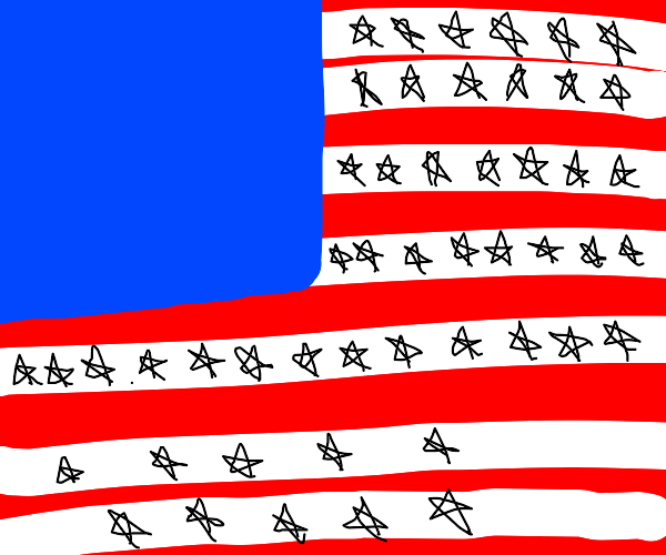 Flag of the U.S (right amount of stars)