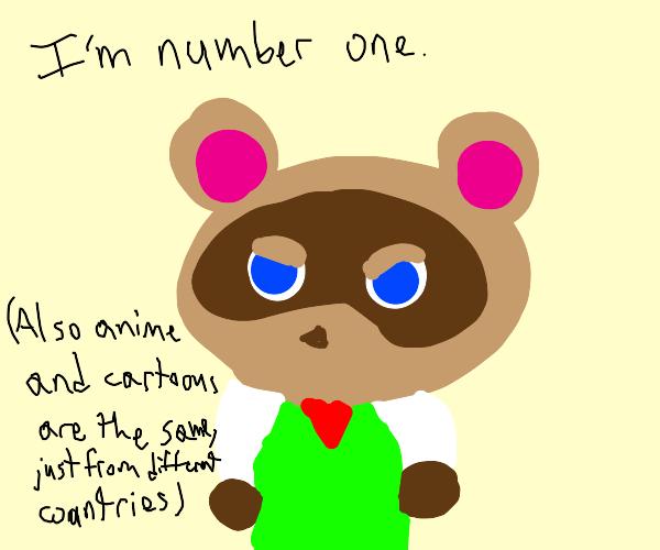 Tom Nook is number 1 (plus anime eyes)
