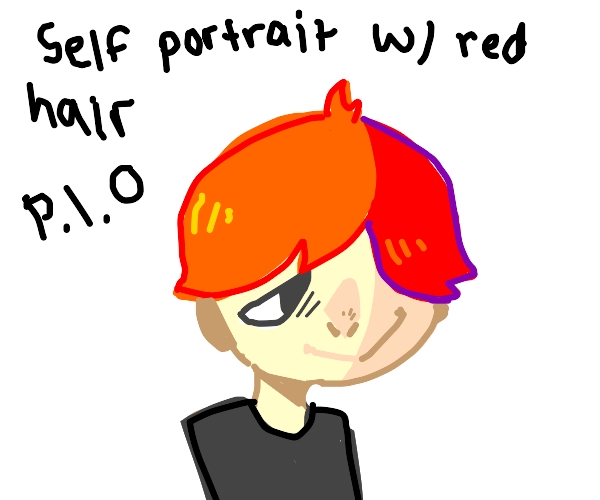 Cute self-portrait with orange hair- pio