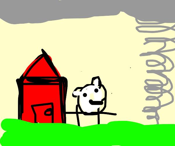 tornado on a farm