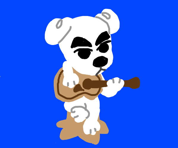 Dog boi playing a guitar
