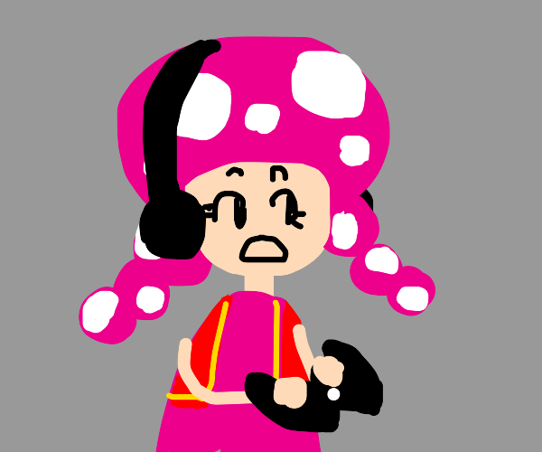 toadette playing a video game