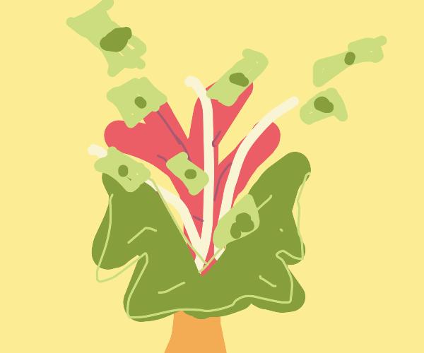 exploding money tree