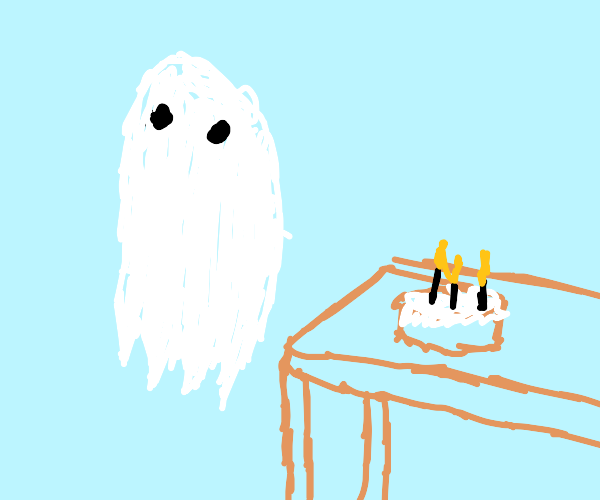 Ghost having a birthday party !