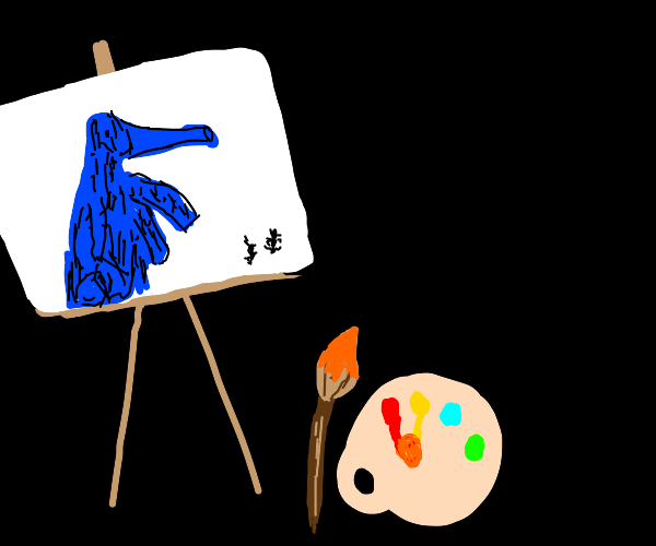 Ant eater painting