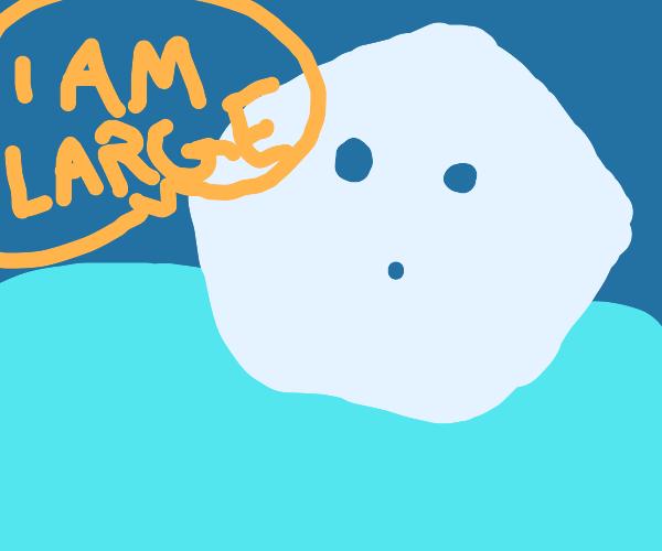 iceberg announces its size
