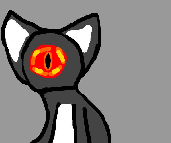 the eye of sauron is actually a cat