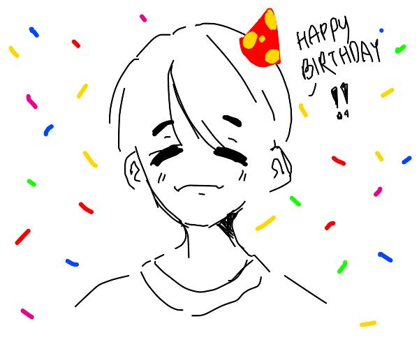 Nice anime boy wishes you Happy Birthday!